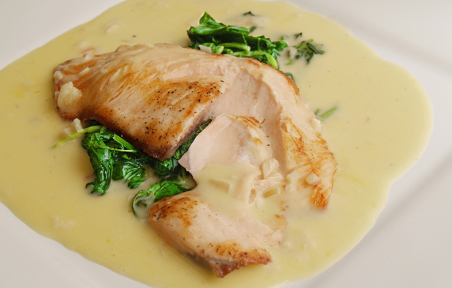 beurre blanc salmon with spinach and beurre blanc recipes from ocado - Bur Blanc Recipe