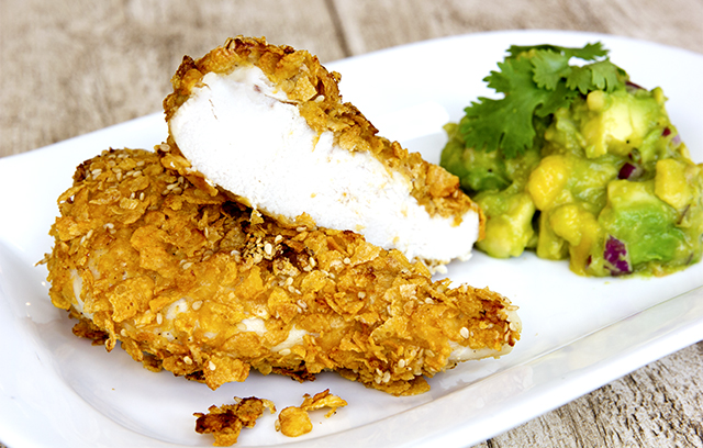 Chicken baked in corn flakes recipe