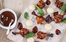Gourmet Pulled Chicken Wings with Posh Mash & BBQ Sauce