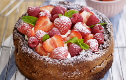 Chocolate Cake with Strawberries - Gluten free