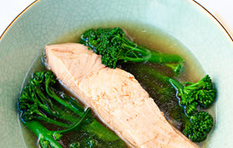 Poached Salmon Fillet with Lemongrass