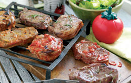 Welsh Lamb Steaks and Chops with Marinades