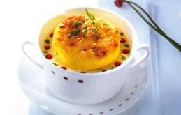 Baked Goat's Cheese Souffle