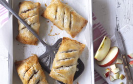 Pink Lady Apple and Sausage Filo Rolls
