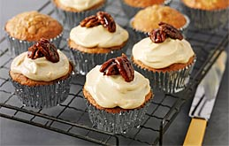 Apple-pecan Muffins with Salted Caramel Pecans