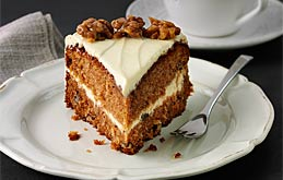 Carrot & Walnut Cake