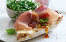 Goat's Cheese and Honey Ciabatta with Parma Ham