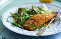 Grilled Honeyed Lime Salmon