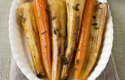 Carrots and Parsnips in White Wine and Thyme