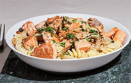 Creamy Salmon Pasta with Herbs
