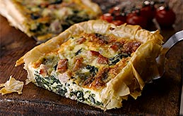 Bacon, Spinach & Blue Cheese Tart
