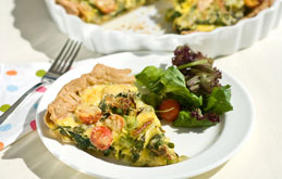 Broccoli, Asparagus and Spinach Tart