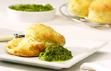 Double Cheese Scones with Rocket Pesto