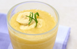 Coconut, Mango and Banana Smoothies