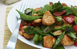 Chicken, Peanut, Sugar Snap and Basil Stir-Fry
