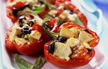 Bramley Apple and Feta Baked Peppers