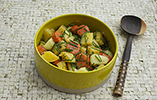 Warm Potato, Carrot and Swede Salad with Mustard and Rosemary Vinaigrette