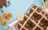 Spiced Chocolate and Orange Hot Cross Buns