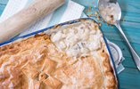 Chicken and Chestnut Mushroom Pie