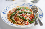Fiery Asparagus and Chicken Pasta
