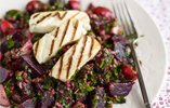 Beetroot Tabbouleh with Griddled Halloumi