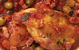 Chicken with Tomato, Garlic, Tarragon and Olives
