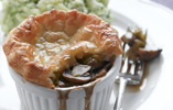 Ale and Mushroom Puff Pastry Pie with Champ