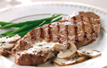 Sirloin Steaks with a Whisky and Mushroom Sauce