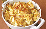 Crunchy cauliflower cheese