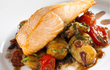 Salmon Fillets with Hot Potato Salad
