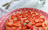 Strawberry, Ricotta and Lemon Thyme Cheesecake