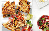 Sweet Potato Quesadillas with Avocado Salad