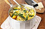 Butternut Squash Risotto with Sage and Blue Cheese