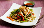 Udon Noodles with Tenderstem Broccoli, Red Peppers & Griddled Turkey Breast