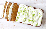 Livia's Kitchen Carrot Cake Loaf with Lime Frosting