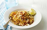 Linguine with Fresh Crab and Chilli Pesto