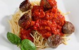 Veal Meatballs with Spaghetti and Hidden Mediterranean Vegetable Sauce