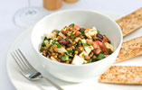 Lentil and Bean Salad with Feta