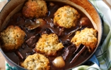 Rich Beef Stifado Stew with Herby Dumplings