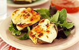 Sweet Chilli Mushrooms with Halloumi Cheese