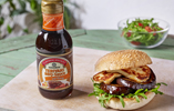 Sticky Teriyaki Honey Aubergine & Halloumi Burger
