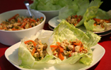 Chinese Chicken Served with Iceberg Lettuce