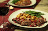 Duck breast with pomegranate and star anise sauce