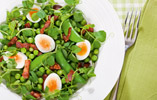 Three Pea Salad with Quails' Eggs