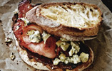Honey-Cured Bacon, Stilton and Chocolate Sandwich