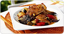 Braised Chicken with Olives and Tomatoes Link