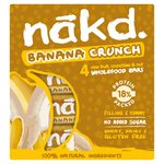 Nakd Free From Banana Crunch Fruit & Nut Bar Multipack