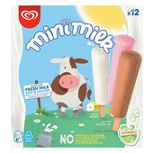 Mini Milk Vanilla, Strawberry & Chocolate Ice Cream Lolly