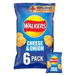 Walkers Cheese & Onion Crisps 25g x