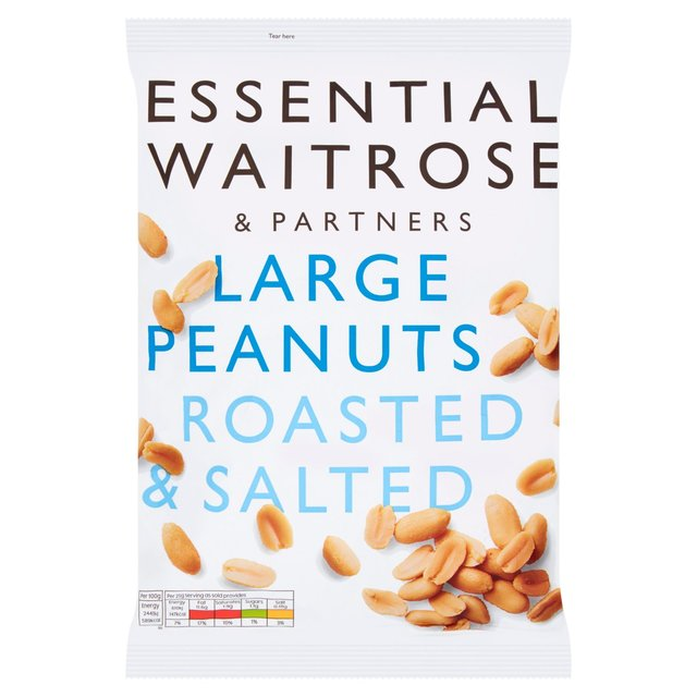 Essential Waitrose Large Roasted Salted Peanuts
